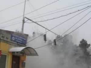 Incendiul de la sediul AJF Suceava a fost observat în jurul orei 10.00 şi a fost stins după o oră