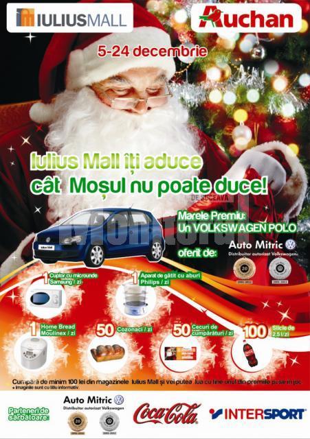 Până la Crăciun: Sute de premii oferite zilnic clienţilor Iulius Mall Suceava
