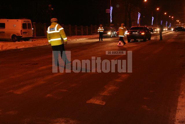 Accidentul petrecut duminică seară pe trecerea de pietoni din faţa Inspectoratului de Poliţie Judeţean Suceava