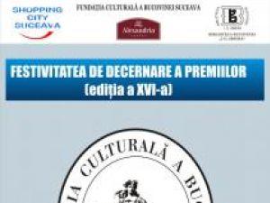 Ediţia a XVI-a: Decernarea Premiilor Fundaţiei Culturale a Bucovinei