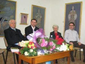 Autorii cărţii, Vasile Jimboreanu şi Raoul Zanca împreună cu Viorelia şi Bogdan Braicu