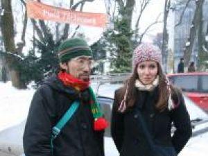 Ushi Yama Susumu şi gazda sa din Suceava, Lavinia Armaşu