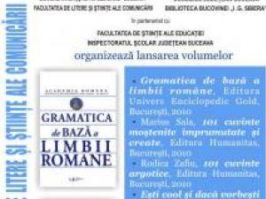 Biblioteca Bucovinei: Lansare de carte în prezenţa acad. Marius Sala, vicepreşedintele Academiei Române