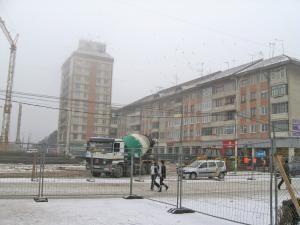 Centrul Sucevei, închis din cauza lucrărilor la parcările subterane