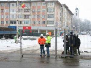 Acces blocat pe strada Ştefan cel Mare