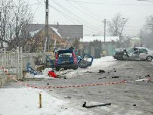 Pentru  toţi cei patru pasageri din Fiat, impactul a fost fatal