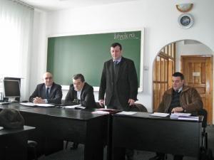 Întâlnirea dintre reprezentanţii şcolilor de şoferi din judeţ şi conducerea Serviciului Public Comunitar Regim Permise de Conducere şi Înmatriculare a Vehiculelor, Autorităţii Rutiere Române
