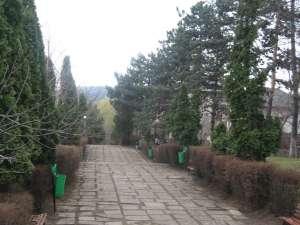 Intrarea în parc a fost curăţată recent de primărie