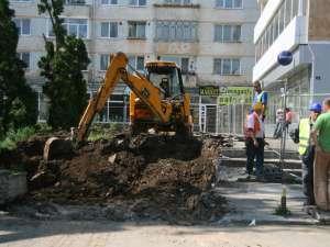 Lucrările de amenajare a noii străzi, care va face legătura între strada Ciprian Porumbescu şi Vasile Bumbac, au început