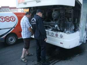 Autobuzul care a luat foc ieri după-amiază