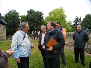 Gheorghe Flutur a fost prezent ieri la începerea lucrărilor la Cetatea de Scaun Sucevei