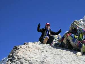 Letiţia Exner, pe Everest