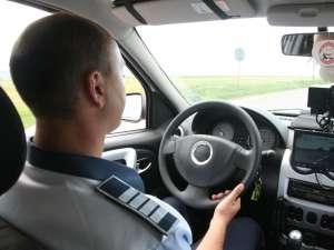 Radarul poliţiei a acţionat şi în mers, surprinzând şoferii care veneau din sens opus