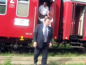 Gheorghe Flutur a parcurs o parte din traseul trenului Suceava – Cacica