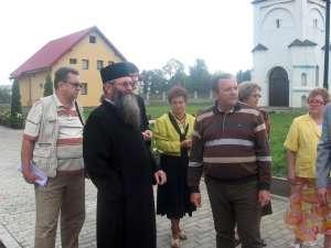 Gheorghe Flutur şi stareţul Mănastirii Bogdana din Rădăuţi