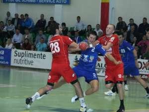 Universitatea a condus aproape tot meciul, dar a fost egalată în ultimele secunde, la fel ca în prima etapă, cu Clujul
