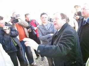 Anca Boagiu a inspectat ieri lucrările de construcţie a variantei de ocolire a municipiului reşedinţă de judeţ