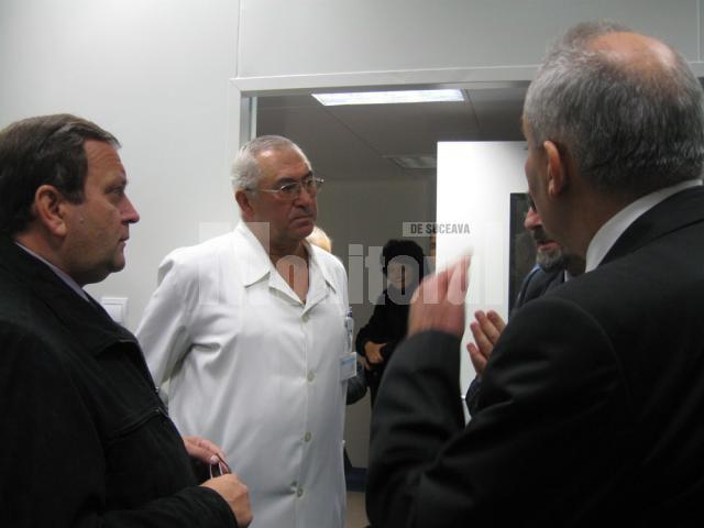 Gheorghe Flutur a fost prezent la recepţia lucrărilor, alături de dr. Sorin Hîncu şi Vasile Rîmbu