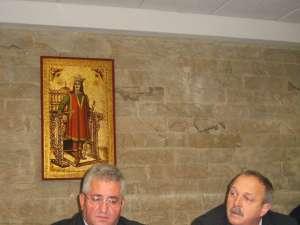 Primarul Ion Lungu şi Constantin Plăcintă, director în cadrul Adrem Invest