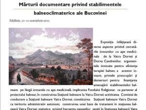 """Conferinţa """"Bucovina şi bucovinenii în secolul al XIX-lea - Tradiţionalism şi modernitate"""""""