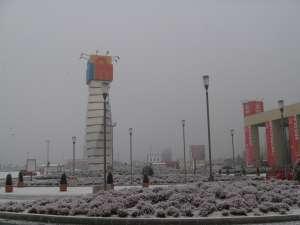 Peisaj de iarnă la Iulius Mall, deşi nu a nins absolut deloc