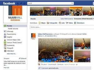 Iulius Mall, lider al clasamentului companiilor din Suceava care au cont pe Facebook