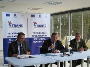 Gheorghe Flutur a susţinut ieri, la aeroport, o conferinţă de presă în care a prezentat în detaliu proiectul de 39,5 milioane de euro cofinanţat din fonduri europene