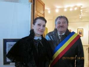 Actriţa Anepska Dina Serghievna şi primarul Marius Ursaciuc