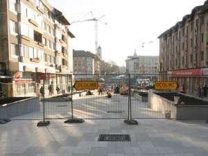 Modernizarea zonei pietonale se va încheia pâna pe 10 decembrie