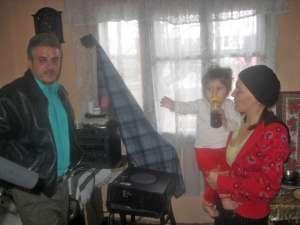 Florian State, soţia sa şi fiica lor de un an şi şapte luni