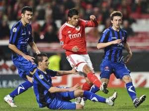 Oţelul Galaţi a pierdut, miercuri, în deplasare, cu scorul de 0-1 (0-1), partida cu formaţia portugheză Benfica Lisabona. Foto: MediaFax