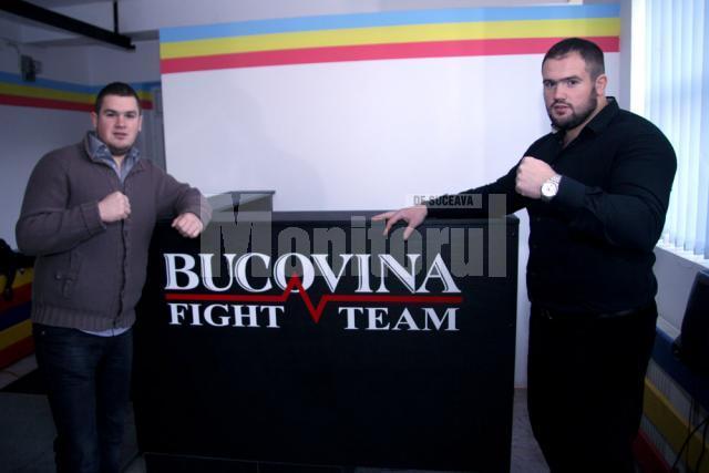Nicolae şi Ghiţă Ignat, în prima sală de arte marţiale mixte din zona Moldovei, Bucovina Fight Team