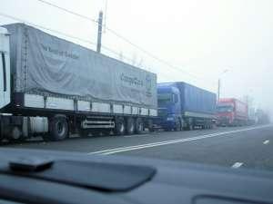 Punctul de Trecere a Frontierei de la Siret - un adevărat coşmar pentru şoferii de tir care transportă marfă spre Cernăuţi
