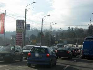 Trafic de coşmar ieri în Suceava
