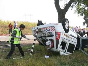 Maşina de politie implicată în accidentul din 3 septembrie