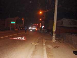 Accidentul s-a petrecut în miez de noapte pe DN 17, în Câmpulung Moldovenesc