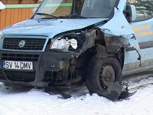 Maşina implicată în accident