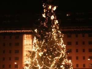 Humorenii au asistat la aprinderea luminilor din bradul de Crăciun