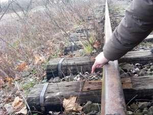 Zona de cale ferată Gura Putnei - Straja, unde au acţionat hoţii