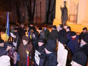 În jur de 50 de oameni, la protestul de aseară