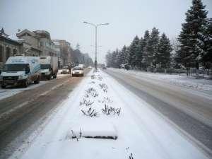 Utilajele de deszăpezire au fost prezente pe toate străzile din zona centrală a municipiului Fălticeni