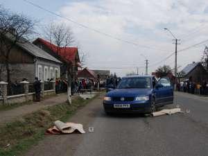 Maşina implicată în accidentul în urma căruia o femeie a fost omorâtă, iar fiul ei de 8 ani a fost rănit grav