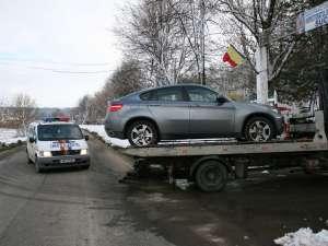 Maşinile de lux furate au fost duse în poligonul de la Mihoveni al Jandarmeriei