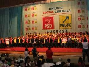 Lansarea campaniei electorale a USL Suceava pentru alegerile locale a avut loc în prezenţa a peste 800 de membri şi simpatizanţi PSD, PNL şi PC