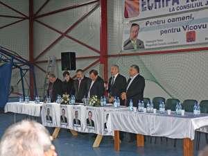 În urma întâlnirii de la Vicovu de Sus, cei prezenţi şi-au declarat susţinerea pentru echipa Flutur-Iliuţ