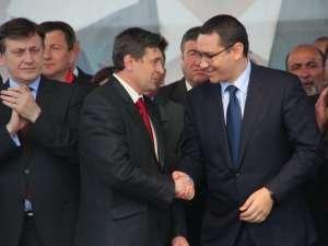 Preşedintele PSD şi premierul României, Victor Ponta, susţine candidatura lui Cătălin Coman pentru funcţia de primar al municipiului Fălticeni, din partea USL