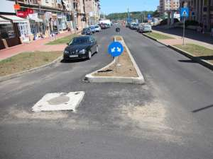 Strada Nicolae Bălcescu, recent modernizată