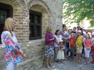 Moment de la festivitatea de deschidere a Atelierului de creaţie Micii Meşteşugari