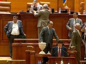 """Preşedintele Traian Băsescu a fost suspendat din funcţie de Parlament, cu 258 de voturi """"pentru"""""""