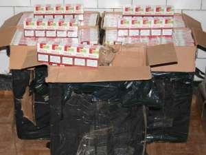 Aproape 9.000 de pachete de ţigări de contrabandă, reţinute la Vicovu de Sus
